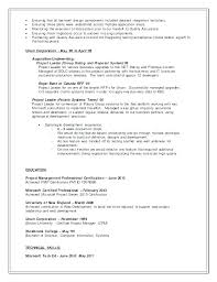 Project Management Resume Objective Resume Examples Sales Resume