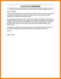 8 Warehouse Cover Letter Quit Job Letter