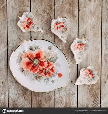 souvenirs made porcelain shot studio marshmallows flowers diy gift sets stock photo