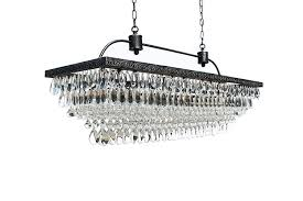 full size of the weston inch rectangular glass drop crystal chandelier farmhouse rectangle home depoth shade