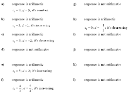Arithmetic Sequence Worksheet Answers Answers To Math Exercises Math Problems Arithmetic Sequence