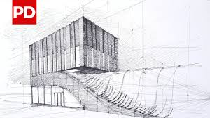 architecture building drawing. Drawing Termeh Office Commercial Building | Daily Architecture Sketches #10 O