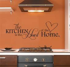 Diy Kitchen Wall Decor The Kitchen Is The Heart Of The Home Wall Decal Kitchen Wall
