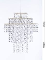 gypsy color pendant 1 light 3 tier chandelier crystal white h 14 x w 13 upc 682962248944 sku gy3lcl