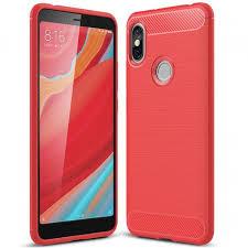 <b>ASLING Carbon Fiber</b> Phone Case for Xiaomi Redmi S2 Red