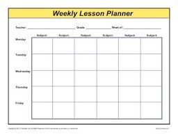 unit planner template for teachers weekly detailed multi class lesson plan template elementary