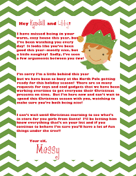 Ideas of Elf The Shelf Introduction Letter With Additional Format Layout