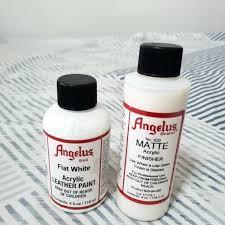 white acrylic leather paint photo photo photo