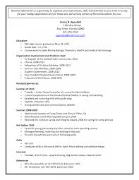 College Admissions Resume Samples Sample High School How To Write