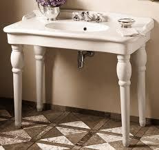 stylish bathroom console with farmhouse sink