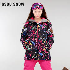 Aliexpress.com : Buy 2017 <b>women's ski</b> jacket <b>female</b> black scrawl ...
