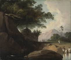 file george chinnery indian landscape with temple google art project jpg