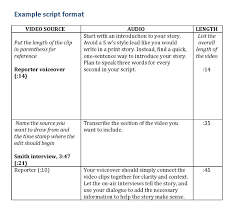 video scirpt example script format how to write a script for a video eclipse