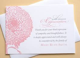 Thank You For Sympathy Card Thank You Sympathy Cards With A Pink Chrysanthemum Etsy