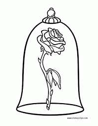 Small Picture Beauty And The Beast Coloring Pages Disney Coloring Book inside