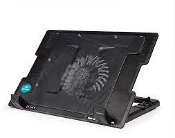 C4 Adjustable Laptop Cooling Stand, Metal Mesh Surface with Silent 140mm  Fan, 2 USB port, Blue LED - Black (C4-CO-05) price from souq in Saudi  Arabia - Yaoota!
