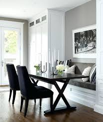 built in kitchen bench and table built in dining bench with x based table transitional kitchen