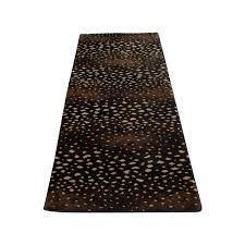 black beige and brown runner rug