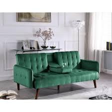us pride furniture 72 in green fabric