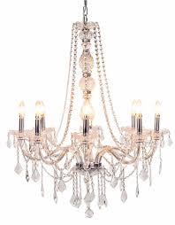 oyer glass arm chandelier 8 light