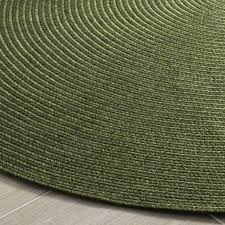 6ft round rugs braided x green hand woven polypropylene rug 6 ft uk