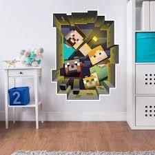 <b>Wall Sticker Minecraft</b> - Caved in Wall - <b>Wall Sticker Minecraft</b>