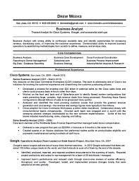 Sample Business Analyst Resume Resume Analyst Templatesmemberproco Business Samples Image 50