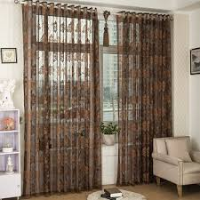 Balcony door curtains Sliding Glass Classical Jacquard Living Room Sheer Curtains Window Drapes Balcony Door Curtains Customizable Chocolate Styles Available Wayfair Classical Jacquard Living Room Sheer Curtains Window Drapes Balcony