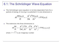 6 1 the schrödinger wave equation