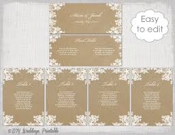 Wedding Seating Chart Cards Template Wedding Table Cards Seating Charts Bridal Shower Ideas