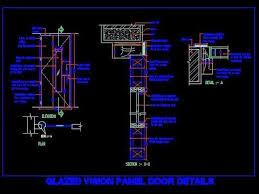 flush door with glass vision panel autocad file planndesign com