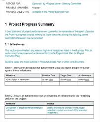 Project Management Report Templates Weekly Report Templates Project Management Weekly Report