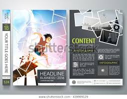 Presentation Flyers Brochure Design Template Vector Photography Flyers Stock