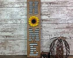 Sunflower home decor Decorating Ideas Rustic Sunflower Home Sign Farmhouse Decor Etsy Sunflower Home Decor Etsy