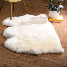 langley street allison hand woven faux sheepskin white area rug with regard to fur plan 15