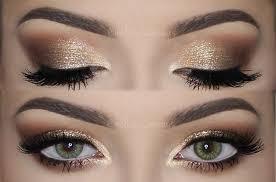 golden eye makeup soft smokey eyes gold glitter make up tutorial you
