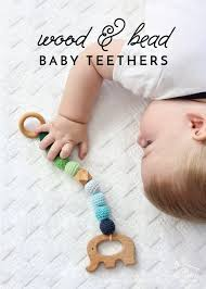 make your own wood and bead baby teethers with this easy to follow tutorial