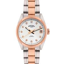 rotary ladies two tone rose gold watch lb02662 02 rotary watches rotary ladies two tone rose gold watch lb02662 02