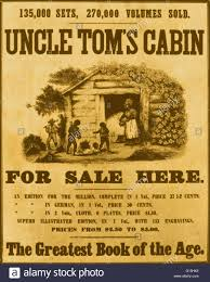 color enhanced poster promoting the book uncle tom s cabin by abolitionist harriet beecher stowe