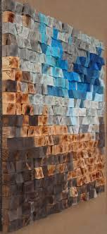 30x30 Woodburning Reclaimed Wood wall Art, Wood mosaic, Geometric art, Wood  wall art