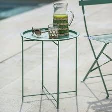 outdoor patio folding steel metal round