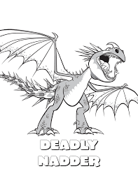 How To Train Your Dragon Coloring Pages Stormfly Deadly Nadder