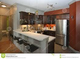 Kitchen Bar Modern Kitchen With Bar Area Stock Photo Image 4324810