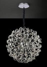 diyas il30555 esme pendant 24 light polished chrome crystal