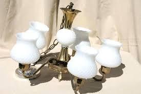 chandeliers milk glass chandelier vintage design pendant lamp for globes