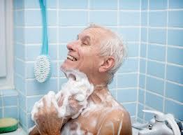shower bathtub old man 600x442 shower bathtub or both