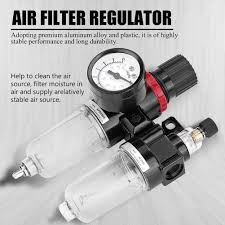 pneumatic air pressure filter regulator lubricator moisture water trap oil water separator g1 4