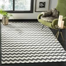 safavieh hand woven dhurries ivory charcoal wool rug 6 x 9