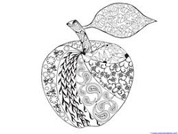 Small Picture Apple Coloring Pages for Adults or Kids 1111