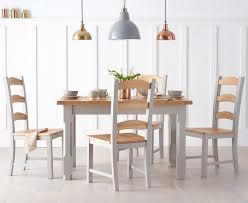 dining room sets co uk. eton 120cm grey solid pine and ash kitchen table with chairs dining room sets co uk